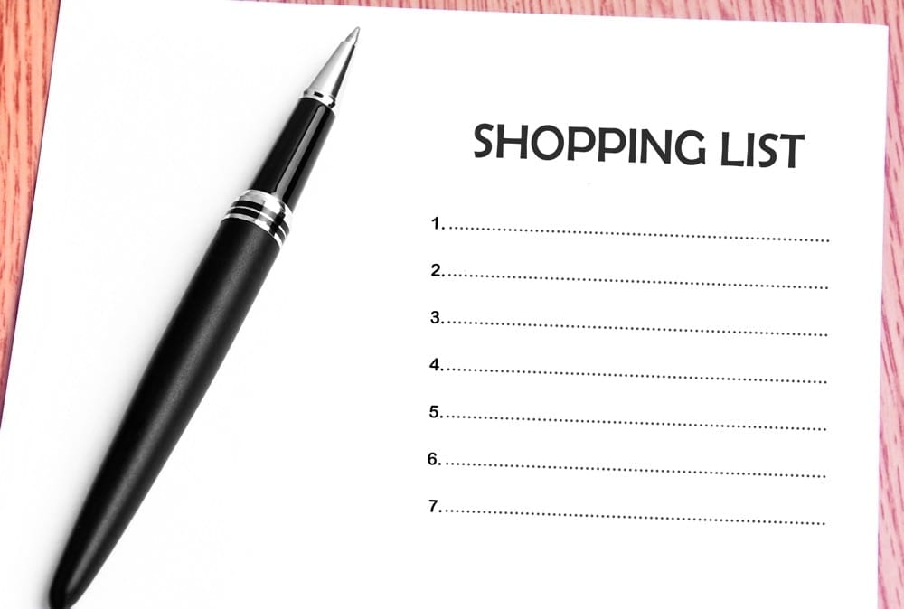 Pro des soldes shopping list by Mademoiselle M