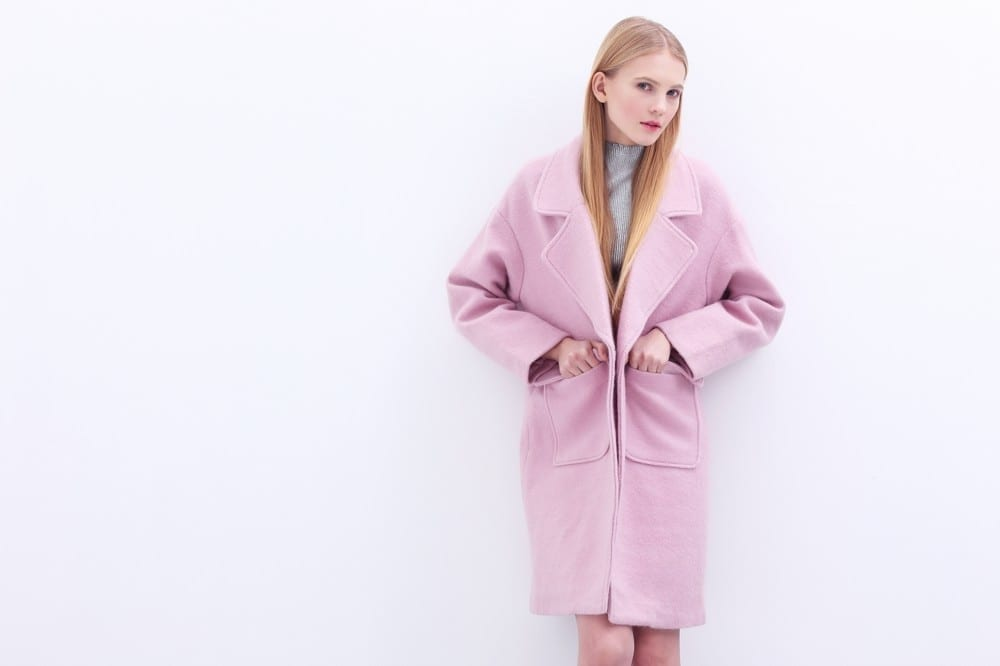 Rose clair manteau by Mademoiselle M