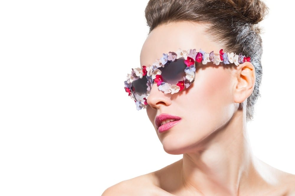 Lunettes fleurs fun by Mademoiselle M