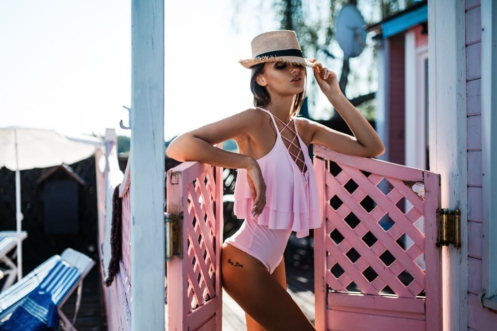 Maillot de bain rose by Mademoiselle M