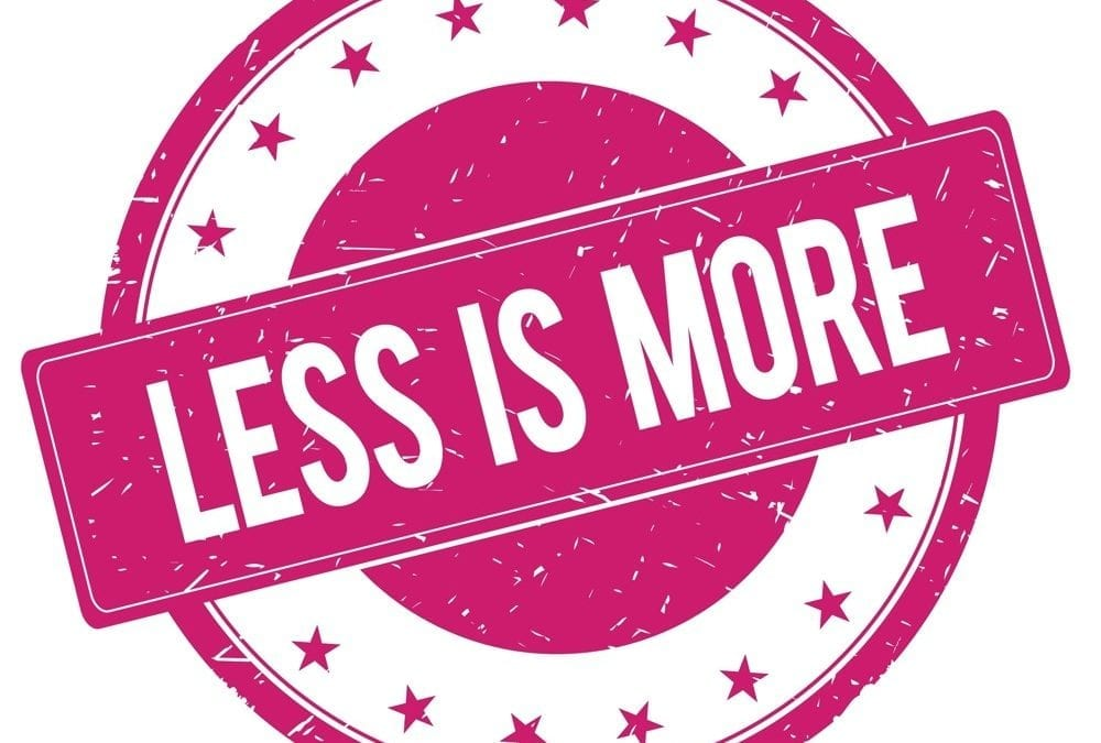 "La garde-robe intelligente ""less is more"" : – c'est +"