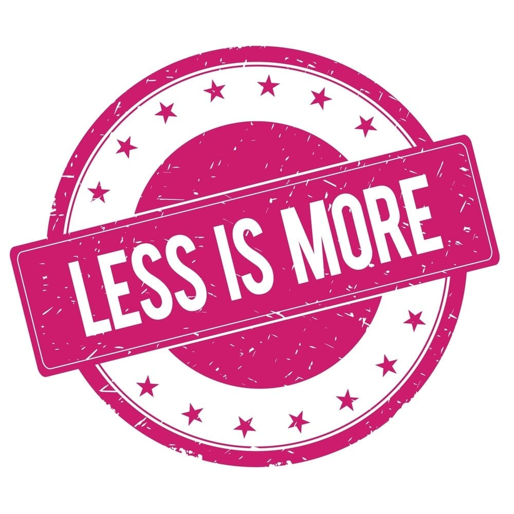 Less is more - Mademoiselle M