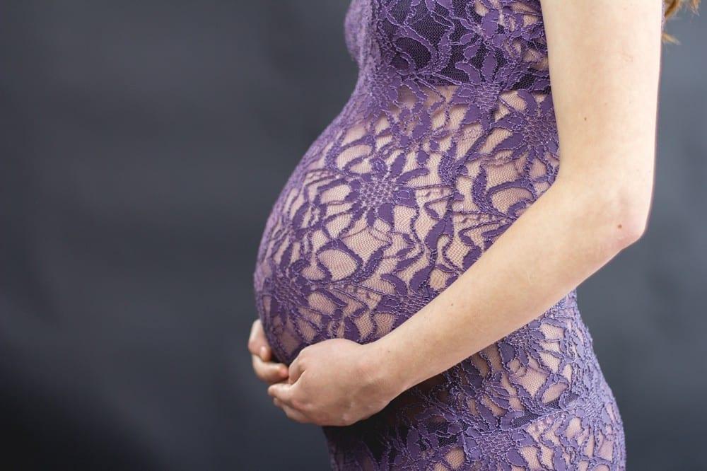 Femme enceinte robe violette by Mademoiselle M