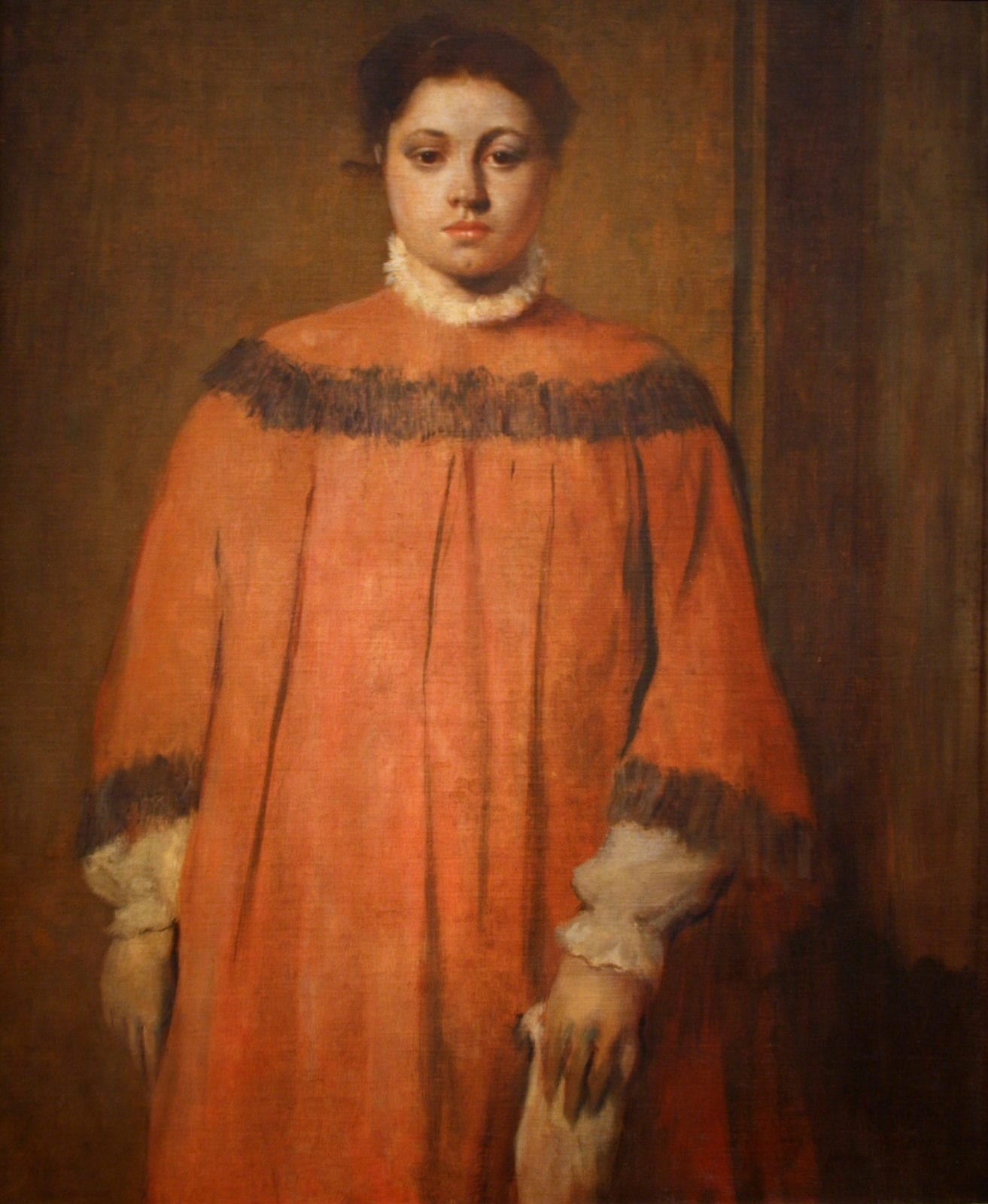 Girl-in-Red-Edgar-Degas